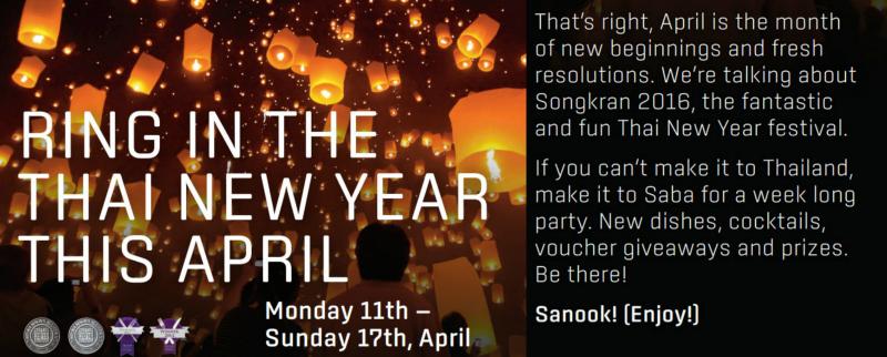 Thai New Year celebrations at Saba Dublin