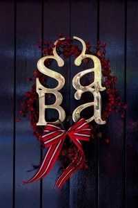 Saba Christmas Door